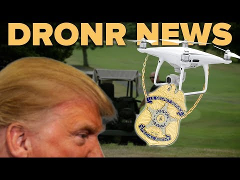 SECRET SERVICE using DRONES TO PROTECT TRUMP