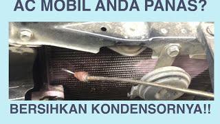 Cara bersihkan kondensor AC mobil yang jarang di ketahui!!