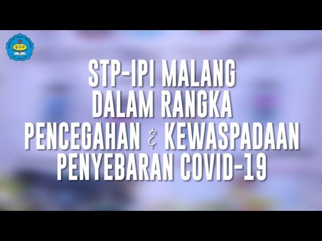 PENCEGAHAN COVID-19 | STP-IPI MALANG