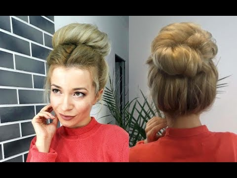 Super Easy Hairstyle Easy Lazy 2 Minute Bun Updo Awesome