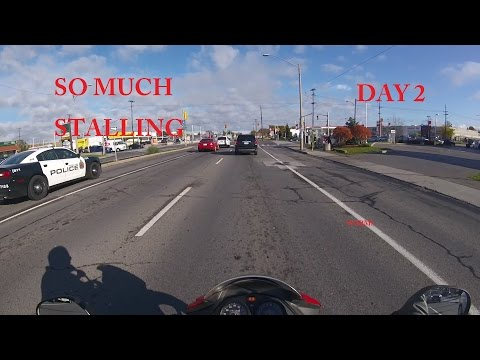 Stalling A LOT! - Day 2 First Time Riding a Motorcycle