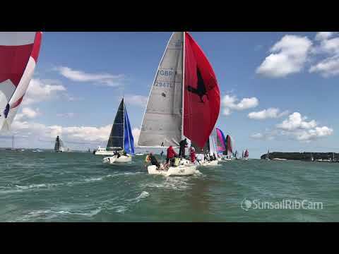Cowes Week 2019 | Sunsail Ribcam Racing Footage from Mon 12th and Tues 13th