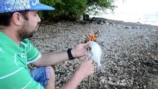 Как пожарить рыбу на костре без сковородки - вкуснейшее рыбное блюдо. Рыба на углях