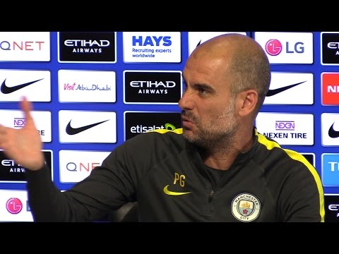 Pep Guardiola Pre-Match Press Conference - Arsenal v Manchester City - Embargo Extras