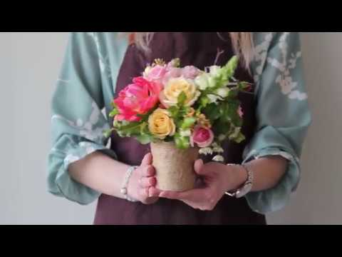 МК по цветочной композиции в стаканчике