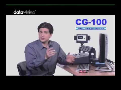 Datavideo CG-100 SD Character Generator Features