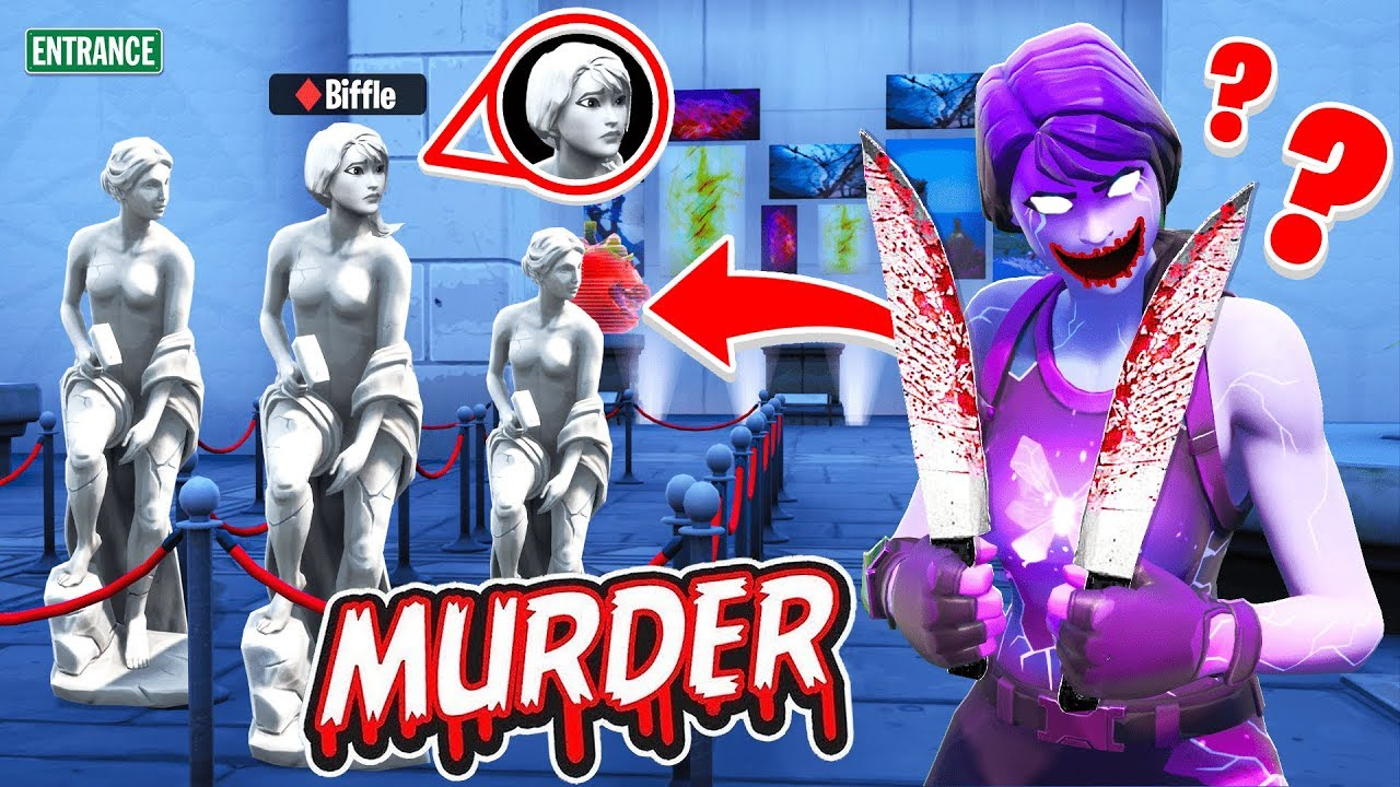 TRY to ESCAPE the MUSEUM MURDERER! (Fortnite Murder ...