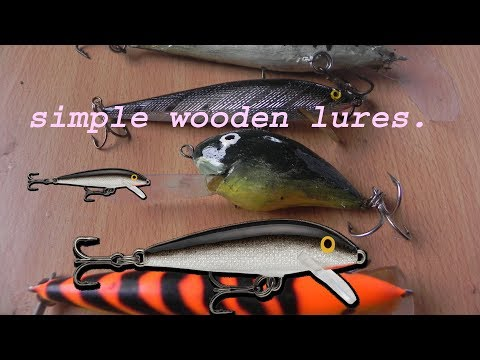 How To Make Cheap And Easy  Wooden Fishing Lures.diy.