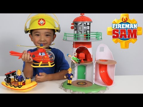 Download Youtube: Fireman Sam Lighthouse Playset Toys Unboxing Fun With Wallaby Neptune Ckn Toys