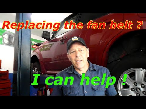 Replace The Drive Belt On A 2010 Mercury Mariner Or Ford Escape