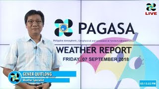 Public Weather Forecast Issued at 4:00 PM September 7, 2018