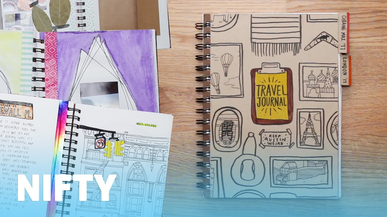 Travel Book Cover Ideas : Build your own travel journal youtube