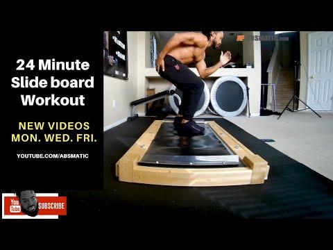 24 Minuted Slide-board Workout | Speedskating