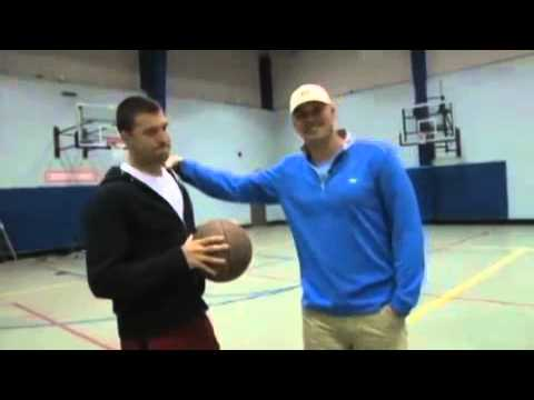 Indianapolis Colts QBs Matt Hasselbeck And Chandler Harnish #8 Half Court Challenge
