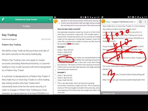 ROBINHOOD APP│Examples Of Day Trading YouTube New Robinhood Pattern Day Trader