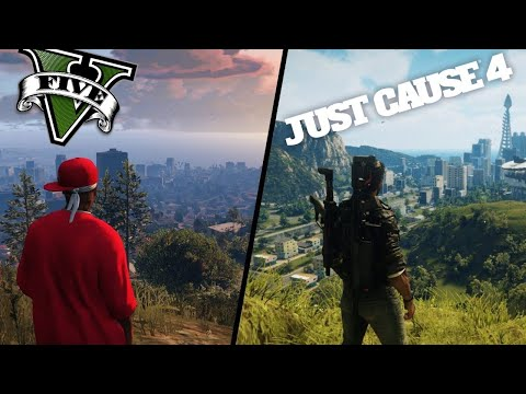 Gta 5 Vs. Just Cause 4- | Side By Side | GRAPHICS COMPARISON