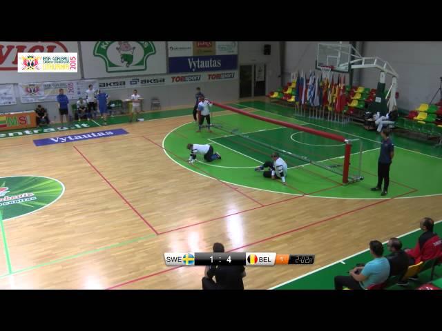 53 Sweden   Belgium Men 2015 IBSA Goalball European Championships Lithuania
