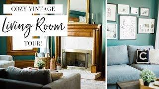 Cozy Vintage Living Room Makeover On A Budget   Vintage Victorian House Updates   Budget Finds