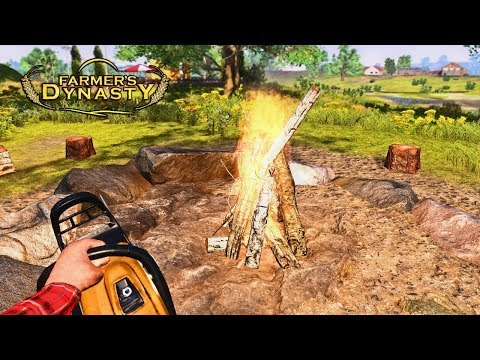 FIRE AND CHAINSAWS | Farmer's Dynasty Episode 27