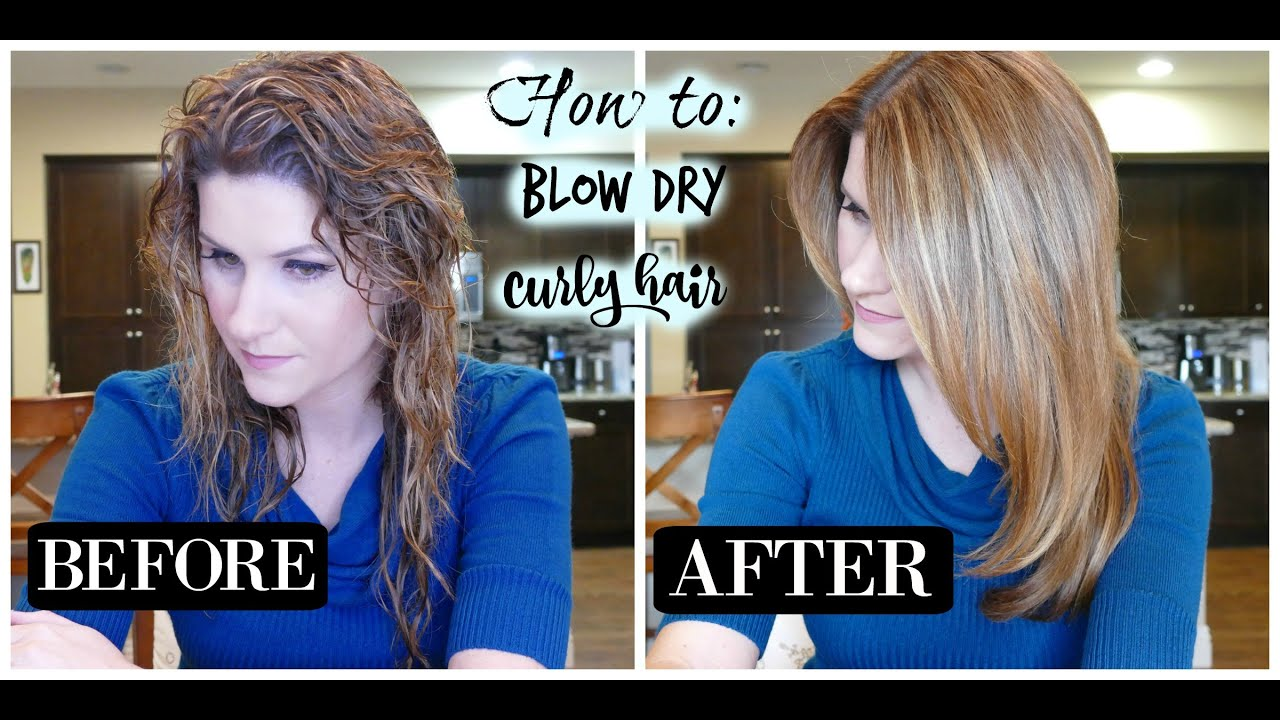 Curly Hair Blow Dry Your Curly Hair Straight Youtube