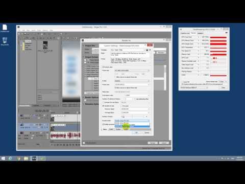 How to verify GPU rendering (GPU-Z, Sony Vegas)