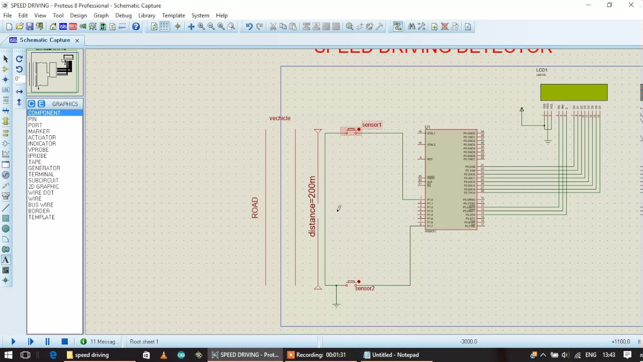 Electronic Projectspeed Driving Detector Using 8051 Microcontroller Circuit Diagram Shows The Required