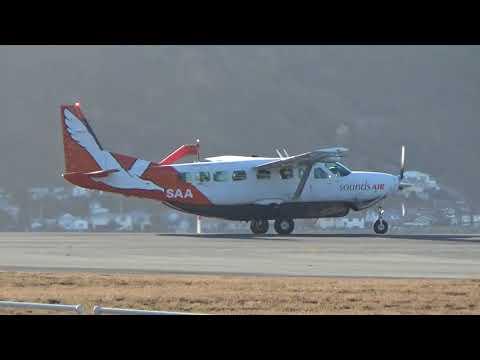 Wellington Airport - Sounds Air Cessna C208B Grand Caravan ZK-SAA Take off RWY34
