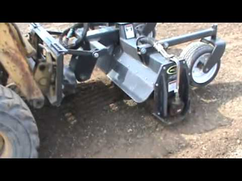 soil conditioner harley rake skid steer attachment for sale youtube