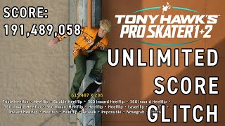 Tony Hawk Pro Skater 1+2 Remake Unlimited Score Glitch (Waterfall Custom Park)