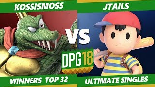 Smash Ultimate Tournament - Jtails (Ness, Snake, Diddy) Vs. KOSSismoss (K Rool) DPOTG18 SSBU WR2
