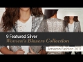 9 Featured Silver Women's Blazers Collection Amazon Fashion 2017