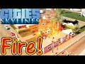 Let's Play Cities Skylines #2: Fire!