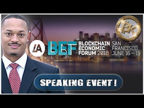 6.9 2018 🔹Brandon Kelly @ Blockchain Economic Forum
