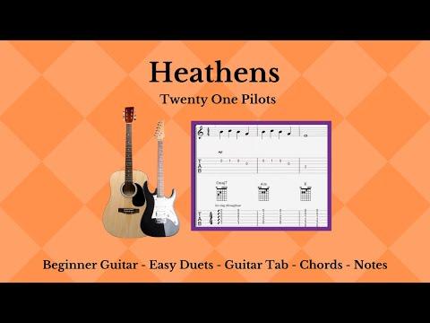 Guitar Tab & Chords - Heathens - Twenty One Pilots