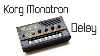 KORG MONOTRON DELAY: Sound and Functions (with Voices) - [direct high quality sound]