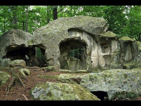 Romanian rock cut cave