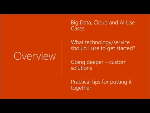 Using big data, the cloud, and AI to enable intelligence at scale