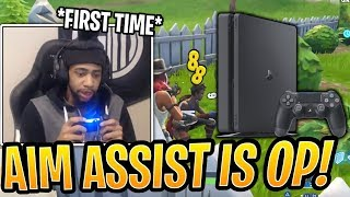 Daequan First Time on Console! He's SHOCKED by OP Aim Assist!- Fortnite Best and Funny Moments