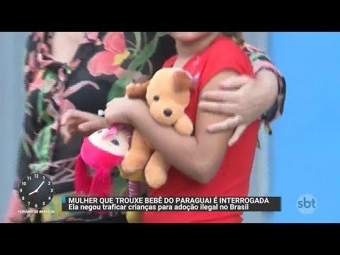 Suspeita de tráfico internacional de crianças é interrogada pela PF | Primeiro Impacto (26/10/17)