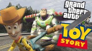 GTA 5 Mods - SKATEBOARDING TOY STORY MOD w/ BUZZ & WOODY (GTA 5 Mods Gameplay)