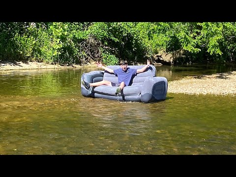 Taking A Couch Down The Creek (IT WAS INSANE!!!!) - Dylan Ayres