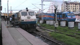 Full Fledged Arrival At Patna Junction, And Spotting Different Liveried Wdp-4s: Patna Duronto