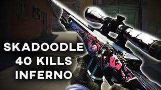 SKADOODLE ON CS:GO - 40 KILLS ON INFERNO | Counter-Strike: Global Offensive Pug
