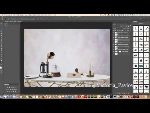 How to create an  image in Adobe Photoshop using 3D objects from PixelSquid