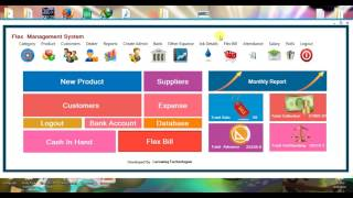 Flex printing billing software(with gst) . gst software automatic backup,e-mail backup,sms facilities, purchase, sales , estimate online custo...