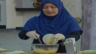 Amozesh cake baghlavayi پخت کیک باقلوایی