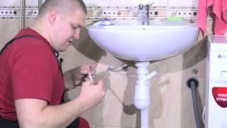 Подключение стиральной машины к умывальнику (мойке)(В этом видео я покажу как подключить стиральную машину к умывальнику или мойке., 2016-02-13T00:02:53.000Z)