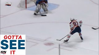 GOTTA SEE IT:  Connor McDavid Streaks Down The Wing, Takes Perfect Draisaitl Pass And Goes Five-Hole