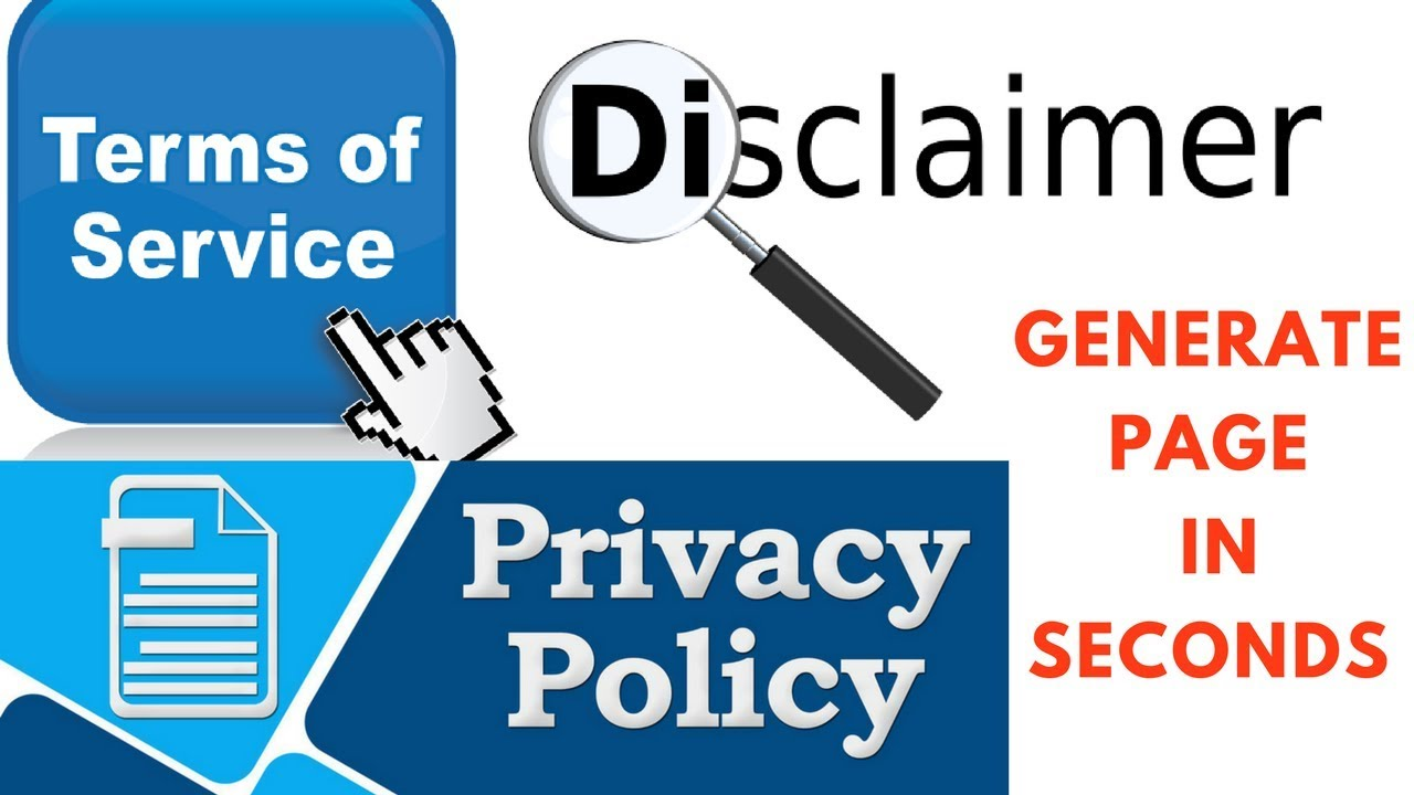 How To Generate Privacy Policy Terms Of Service And Disclaimer Page Add Website