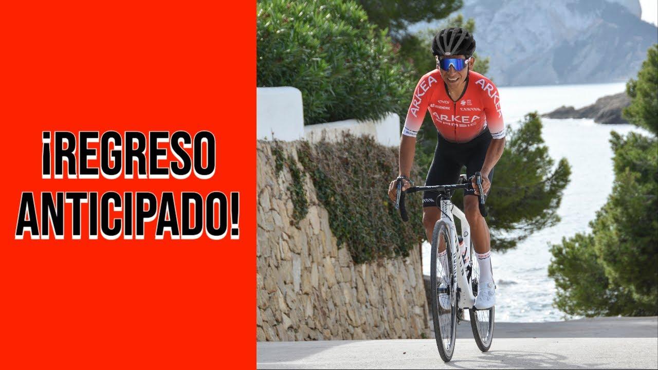 Nairo Quintana regresa a los entrenamientos tras su accidente